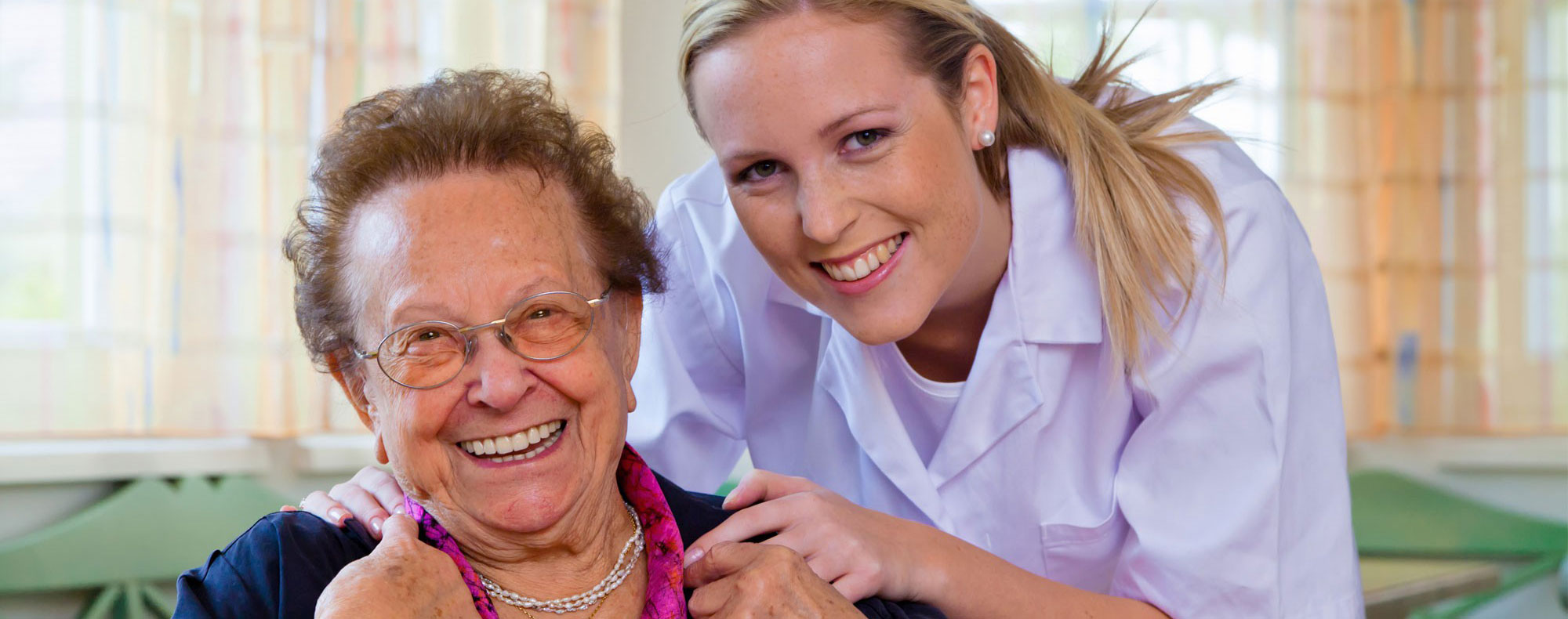 homecare specialist with senior